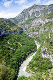 Canyon de Verdon, the Verdon Gorge,  France, Provence. Royalty Free Stock Image