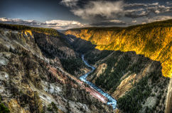 Canyon de Yellowstone Photographie stock