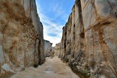 Canyon, decay granite, South of China Stock Image