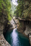 The canyon and deep pools Royalty Free Stock Photo