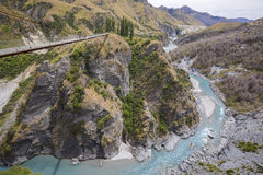 Canyon dei capitani, isola del sud, Nuova Zelanda Fotografia Stock Libera da Diritti