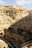 Canyon del deserto di Wadi Kelt Fotografia Stock