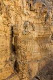 Canyon del deserto di Wadi Kelt Fotografie Stock Libere da Diritti