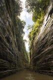 Canyon del fiume, altopiani di Fijiian Fotografia Stock Libera da Diritti