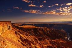 Canyon del fiume dei pesci, Namibia Fotografie Stock