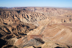 Canyon del fiume dei pesci nel Namibia Immagini Stock