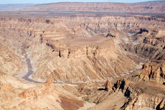 Canyon del fiume dei pesci nel Namibia Immagine Stock Libera da Diritti