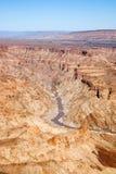 Canyon del fiume dei pesci nel Namibia Fotografie Stock Libere da Diritti