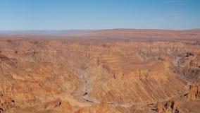 Canyon del fiume del pesce in Namibia video d archivio