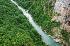 Canyon del fiume della Cesalpina fotografie stock