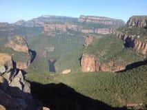 Canyon del fiume di Blyde nel Lowveld immagini stock libere da diritti