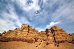 Canyon del fiume di Charyn immagini stock libere da diritti