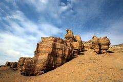Canyon del fiume di Charyn immagine stock libera da diritti