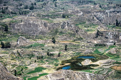Canyon del fiume di Colca nel Perù del sud Immagini Stock Libere da Diritti