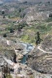 Canyon del fiume di Colca nel Perù del sud Fotografia Stock