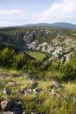 Canyon del fiume di Krupa Fotografia Stock