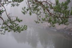 Canyon del fiume in Finlandia, Imatra Fotografia Stock