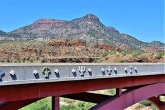 Canyon del fiume Salt, all'interno della prenotazione indiana di Apache della montagna bianca, l'Arizona, Stati Uniti immagine stock libera da diritti