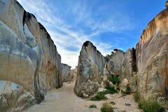 Canyon del granito in Fujian, Cina di alterazione causata dagli agenti atmosferici Immagine Stock