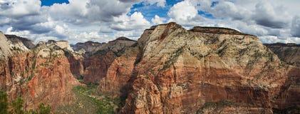 Canyon del parco nazionale di Zion Fotografia Stock
