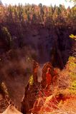 Canyon del vulcano Fotografia Stock