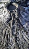 Canyon del vulcano del fango Fotografia Stock Libera da Diritti
