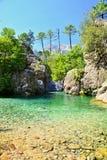 Canyon dell'acqua in Corsica Immagini Stock