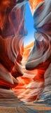 Canyon dell'antilope delle ombre e della luce fotografie stock