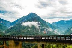 Canyon della Cesalpina nel Montenegro Immagine Stock