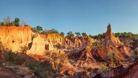 Canyon della cucina del ` s dell'inferno di depressione di Marafa fotografia stock libera da diritti