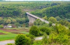 Canyon della curvatura del fiume di Dnister della primavera Fotografia Stock Libera da Diritti
