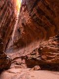 Canyon della scanalatura lungo Burr Trail fotografie stock