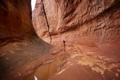 Canyon della scanalatura fotografie stock libere da diritti