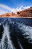 Canyon della valletta e lago Powell Immagini Stock Libere da Diritti
