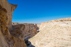 Canyon in the desert of the Negev Stock Photography