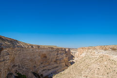 Canyon in the desert of the Negev Stock Images