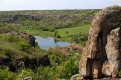 Canyon di Aktovsky Fotografie Stock