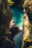 Canyon di Bellano - Italia fotografia stock