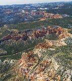 Canyon di Bryce - dagli aerei Fotografie Stock