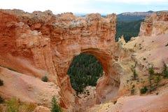 Canyon di Bryce dell'arco dell'arenaria Immagini Stock Libere da Diritti