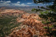 Canyon di Bryce e di là Immagini Stock Libere da Diritti