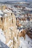 Canyon di Bryce nella neve Immagine Stock Libera da Diritti