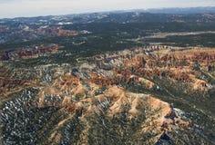 Canyon di Bryce - vista aerea Immagini Stock