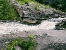Canyon di Buky - un canyon roccioso sul fiume vicino al villaggio di Gorny Tikich Buki, Ucraina, estate 2016 Immagini Stock