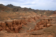 Canyon di Charyn Fotografia Stock