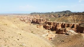 Canyon di Charyn in Kasachstan fotografie stock