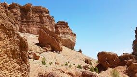 Canyon di Charyn in Kasachstan immagine stock