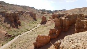 Canyon di Charyn in Kasachstan il Kazakistan fotografia stock