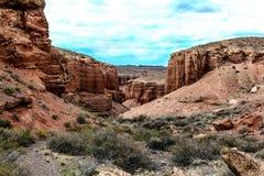 Canyon di Charyn kazakhstan Immagini Stock Libere da Diritti