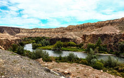 Canyon di Charyn kazakhstan Immagine Stock Libera da Diritti